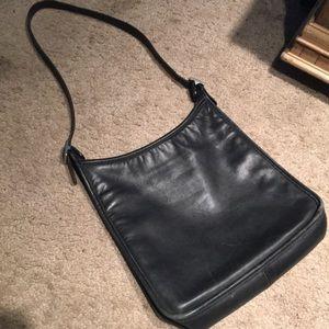 Black leather vintage Coach purse